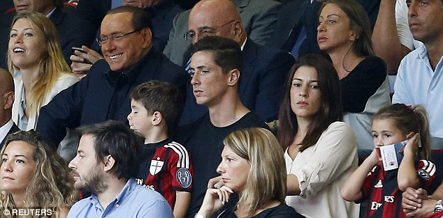 Fresh start: Torres joined Milan on a two-year loan deal to see out his Chelsea contract until June 30 2016