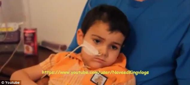 Cancer sufferer: Terminally ill boy, Ashya, five, was found alive by police in Spain but is under police guard in hospital and his family are banned from seeing him