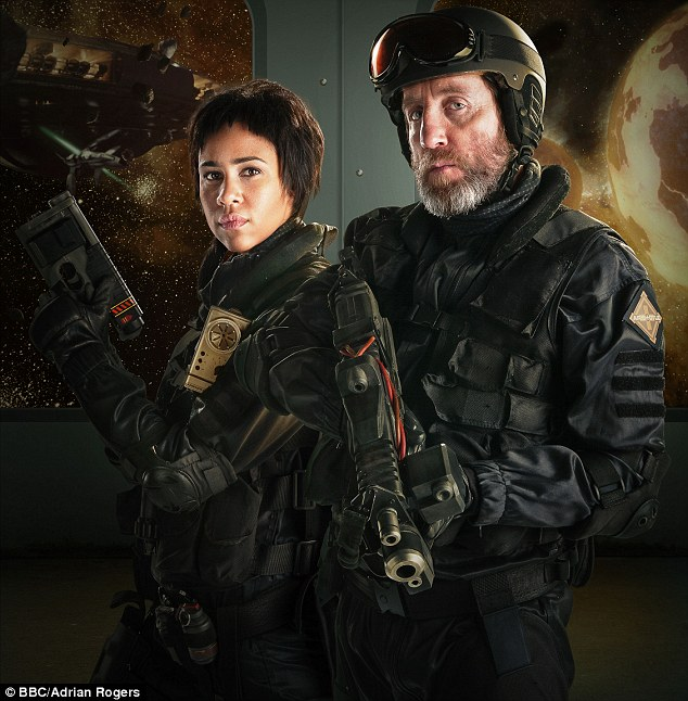 Journey Blue, played by the excellent Zawe Aston, left, and Colonel Morgan Blue, played by Michael Smiley