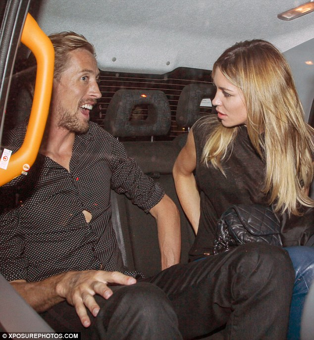 Date night: Peter Crouch and Abbey Clancy hit The Lexington in North London to watch the model's brother John's band The Razz perform