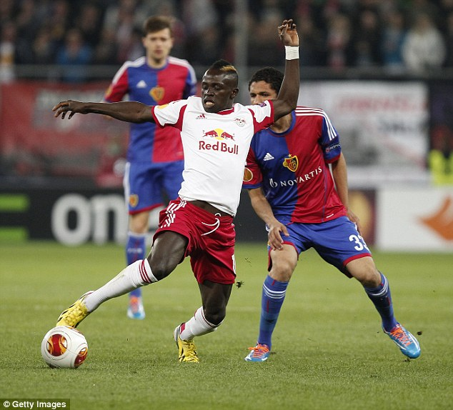 Getting closer: Southampton have offered £11.8million for Red Bull Salzburg forward Sadio Mane