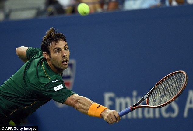 Broken: Granollers may feel the delay hindered his performance after storming to the opening set 6-2