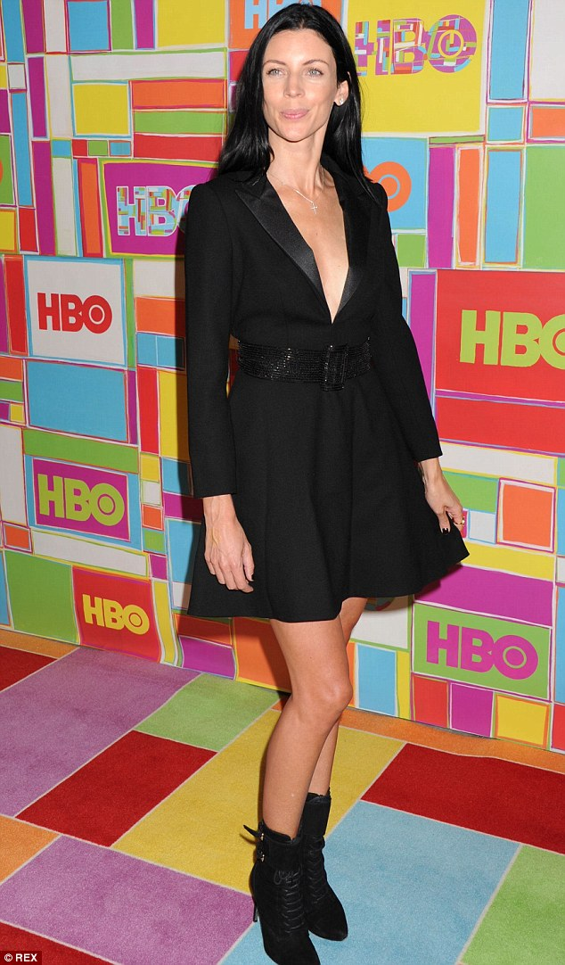 The leggy look: The mother-of-two wore the same pair of shoes when she attended The 66th Annual Primetime Emmy Awards' HBO Party in LA last week