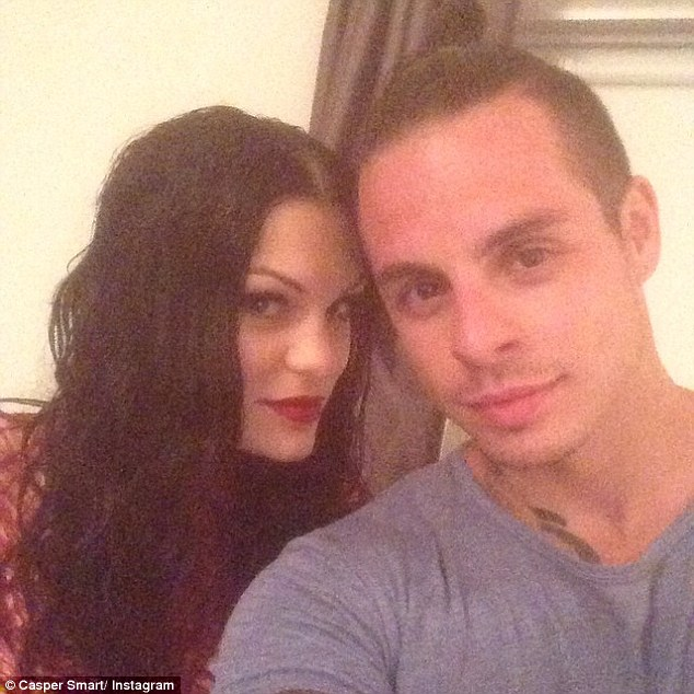 Teaming up: Casper Smart shared a shot of himself with Jessie on Saturday, after he choreographed the video to her new single Burnin' Up in Los Angeles