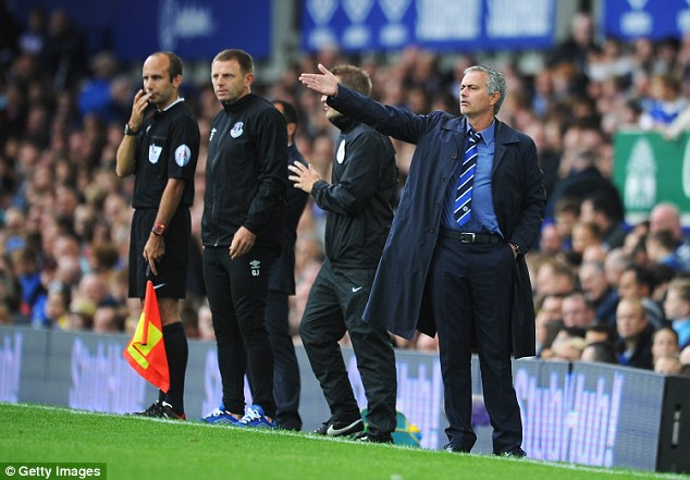 Problem solved: Jose Mourinho (right) no longer needs to move on a foreign player after Van Ginkel's move
