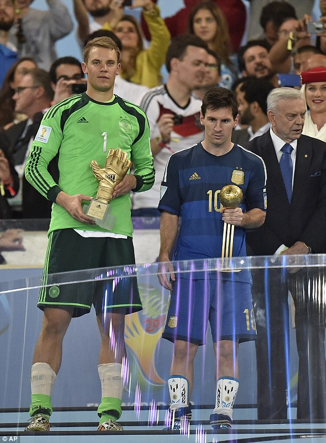 Award: Lionel Messi was announced winner of the Golden Ball award after losing the World Cup final in July