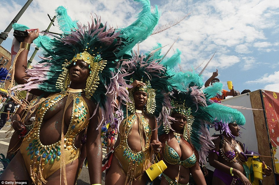 Dare to bare: Female dancers traditionally wear less for the parade