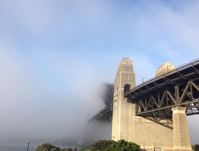 This comes a week after fog blanketed Sydney on the first day of spring