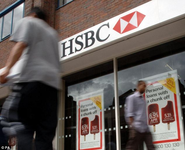 HSBC drop: Shares in the global lender fell after one of Britain's most high-profile fund managers, Neil Woodford, said he had sold his fund's stake in the group