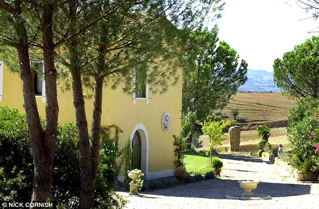 Idyllic: This is the Italian villa  that belongs to Tony Blair's former chief of staff Jonathan Powell, now Cameron's Libya envoy. And it is here that the Camerons conceived Arthur, according to Powell's sister-in-law Carla