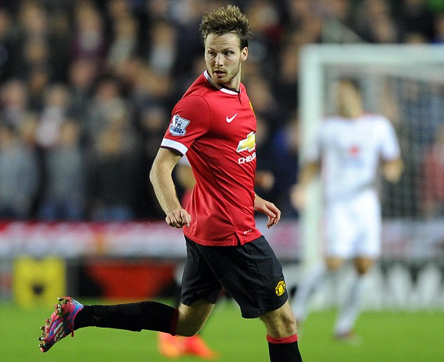 On the move: Powell made 13 appearances for Manchester United since moving in 2012