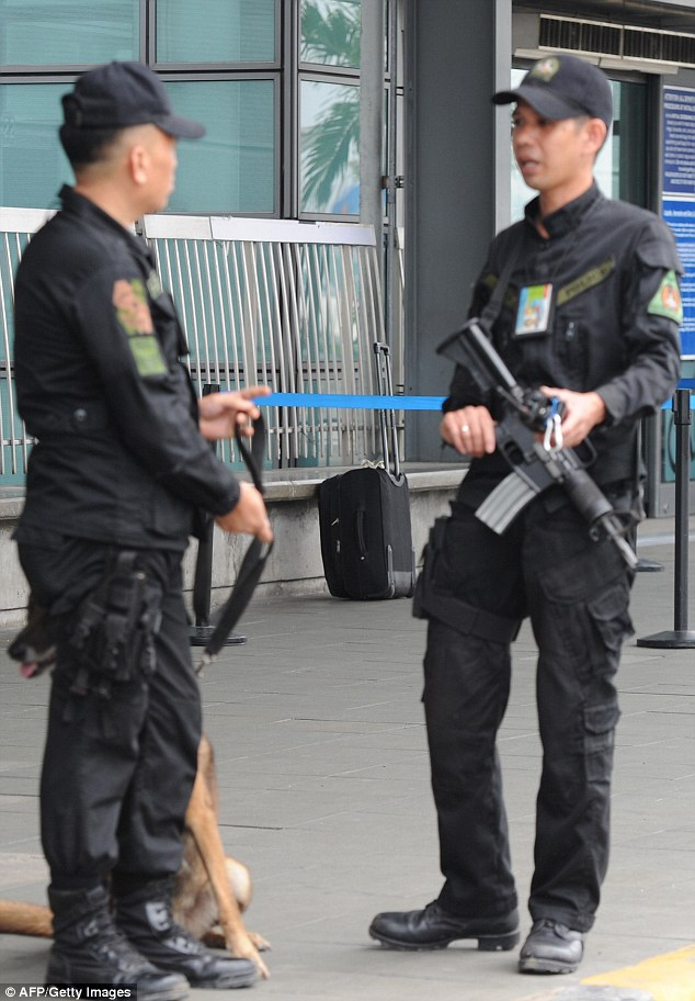 High alert: Security measures were tightened at Manila's international airport after the plot was thwarted