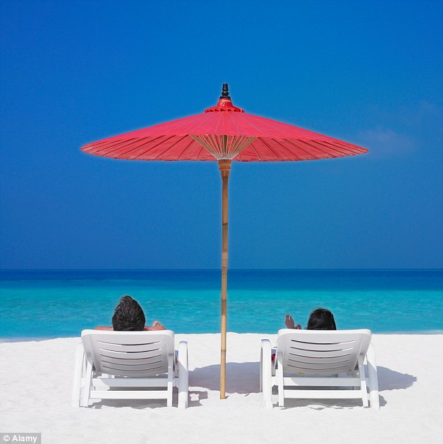 Romantic jaunts: The survey found new relationships have led to more holidays