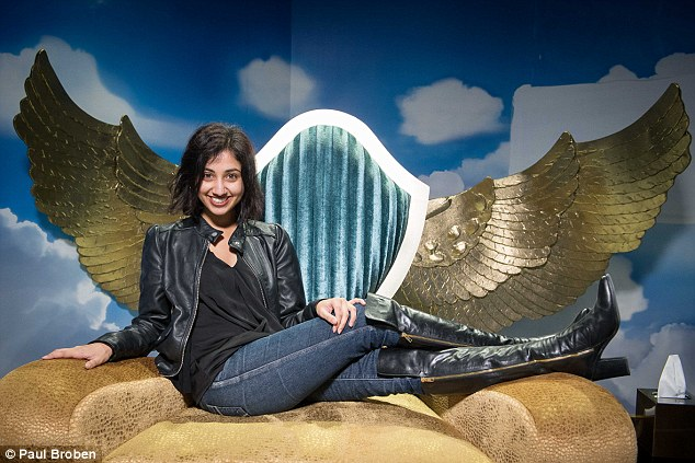 Diary room diva: Daily Mail Australia reporter Alicia Vrajlal entered the Big Brother house in Queensland¿s Dreamworld on the Gold Coast on Monday