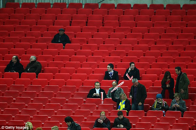 Lack of interest: Around 40,000 fans, less than half the capacity, are expected to be in attendance