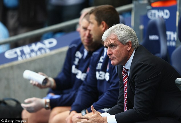 Penny pincher: Stoke manager Mark Hughes spent the least in the transfer window with a $3.4m gross outlay