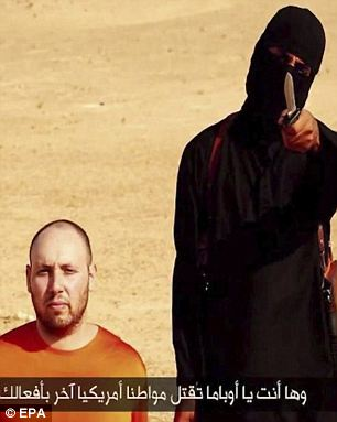 Taunting Obama: Sotloff's masked executioner tells the camera that the killing is in retaliation for US airstrikes in Iraq