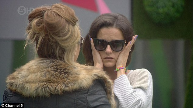 An emotional day:Edele Lynch became upset on Tuesday night's episode of CBB after she missed seeing her kids off to school