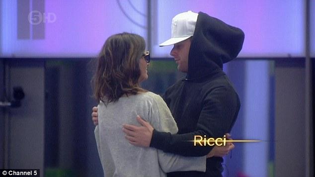 Don't beat yourself up... RicciGuarnaccio comforted the Irish singer with a big hug
