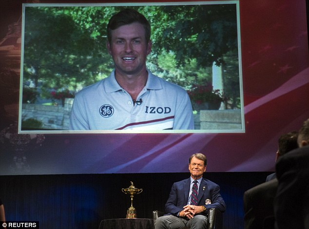 Man for all seasons: Tom Watson selected Webb Simpson for his statistics in the last Ryder Cup