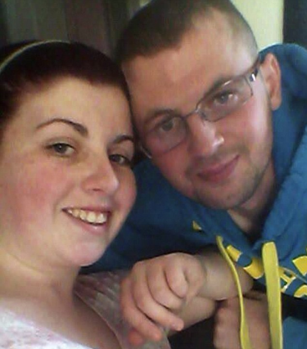 Miss Dunne with boyfriend Terence Rhoden. He found the teenager unconscious on the living room floor of their home after he returned from hospital and realised she had taken his insulin