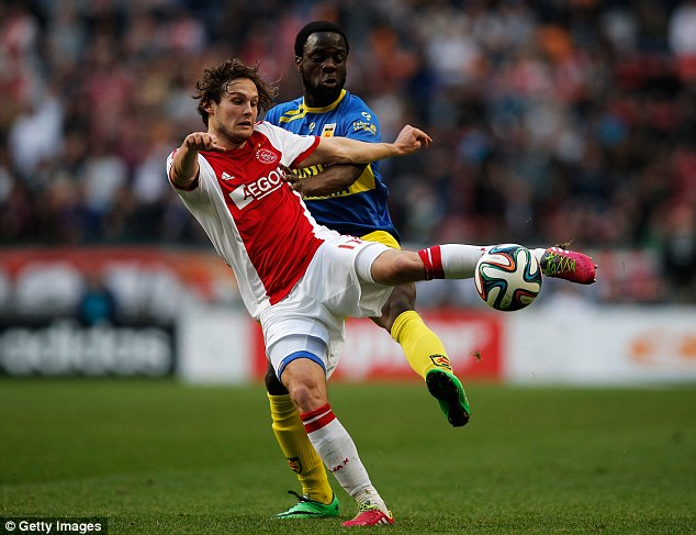 Top talent: Blind (front) eventually won over the Ajax fans with a breakthrough 2012-13 season at the club