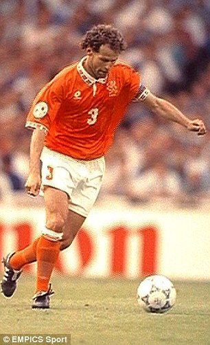 Captain leader legend: Danny Blind skippered Holland many times, including at Euro 96