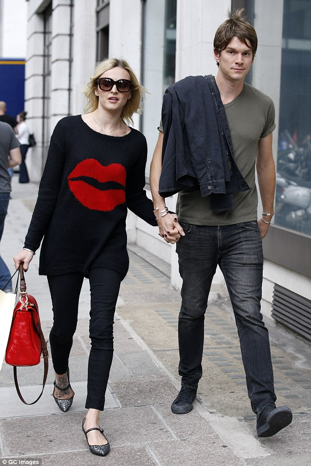Birthday girl!Fearne Cotton steps out hand-in-hand with husband Jesse Wood for a leisurely stroll  as she celebrates turning 33in central London on Wednesday