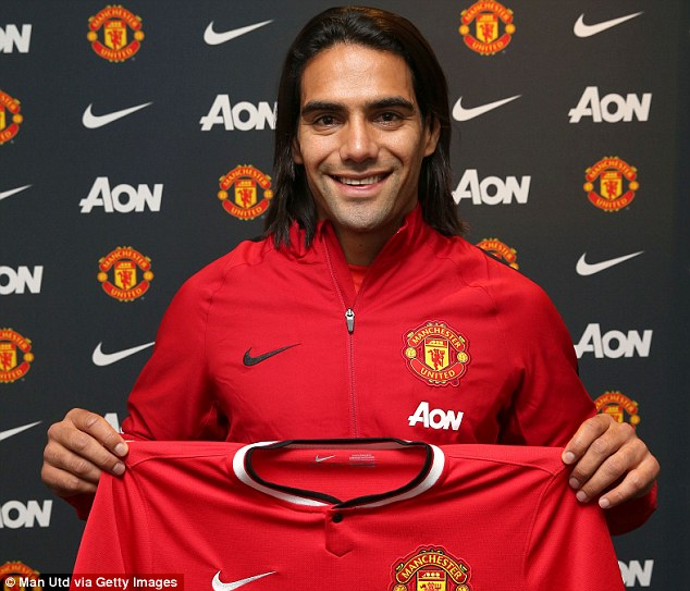 All smiles: Radamel Falcao is staying in the Lowry Hotel following his move to Manchester United