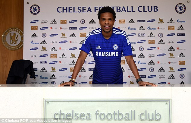 New boy: Loic Remy has decided to take the No 18 shirt after signing for Chelsea on Sunday