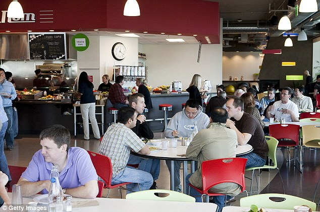Feed the fire: Google restaurants and cafeterias around the world serve about 50,000 free meals a day