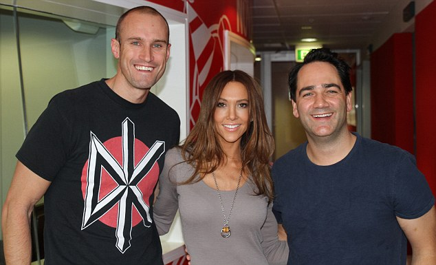 Good move: Kyly Clarke appeared on radio on Wednesday, and shared a dance with Michael 'Wippa' Wipfli