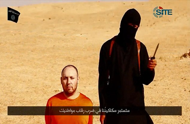 Threats: An Islamic State fighter spoke with a British accent as he beheaded US journalist Steven Sotloff