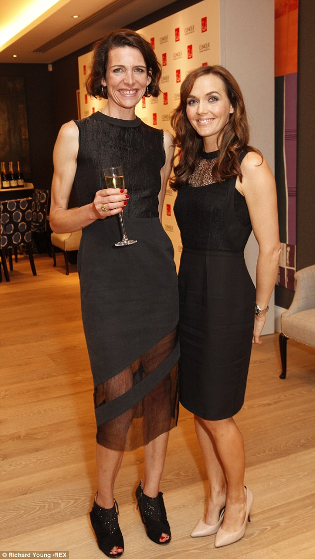 Back to black: Former Olympian Victoria Pendleton (right) poses with cook Thomasina Miers (left)