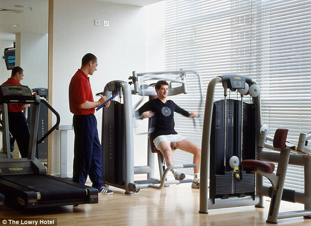 Workout: The Red Devils' summer arrivals can pay £600 for a year's membership in the Lowry hotel gym