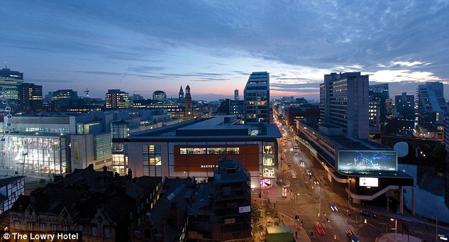 City life: Many of the hotel's rooms, which cost hundreds of punds to stay in, overlook the Manchester skyline