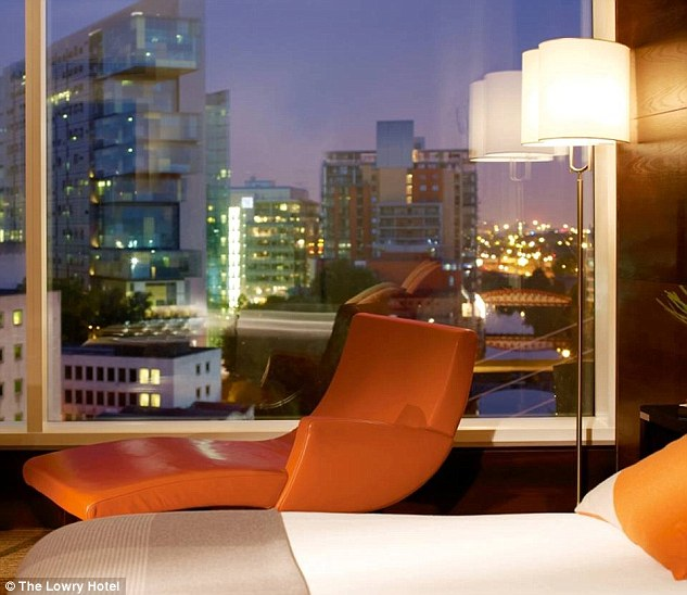 Room for the night: A double room at The Lowry costs £252 while a family suite will set guests back £748