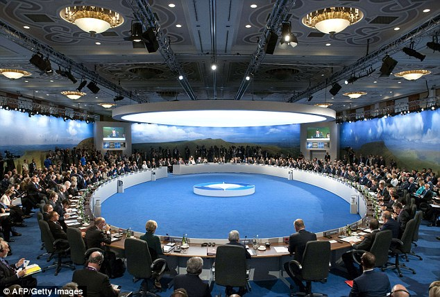 Leaders hold a meeting on Afghanistan during the NATO 2014 summit at the Celtic Manor Hotel in Newport, South Wales today
