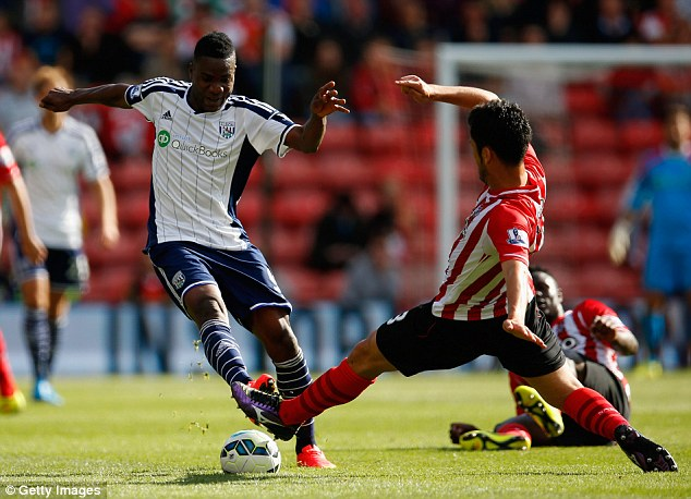 Record signing: Brown Ideye was signed for a whopping £10m as the Baggies reinforced their forward line