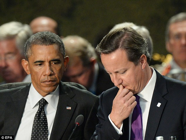 David Cameron has hinted that attacks on Islamic State forces in Iraq and Syria could happen 'within weeks', but officials said President Obama made no specific requests for the UK to join the strikes