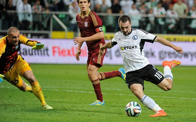 Play-off: The Polish champions won their Europa League play-off match and made it to the group stages