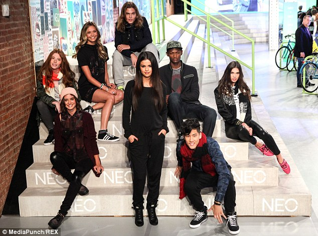 Teen friendly: The designs boasted leather leggings, short dresses, jackets, scarves and hats geared towards the younger generation