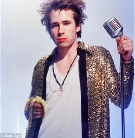 Jeff Buckley banana shot: Buckley eating a banana when Merri Cyr was in the middle of shooting him for his album cover Grace, Grace Outtake, NYC 1993