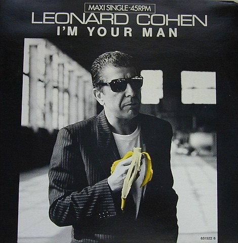 Leonard Cohen 'I'm your man' single cover