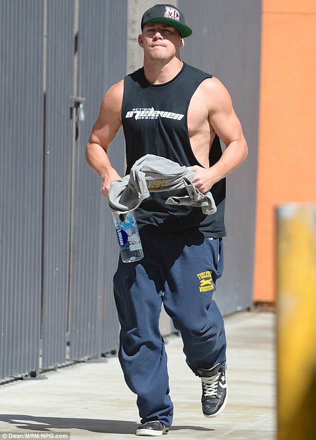 Looking good: The 34-year-old has pumped up his body to reprise his role as stripper Michael Lane in Magic Mike XXL, the sequel to 2012's surprise hit, Magic Mike, about the world of male erotic dancers