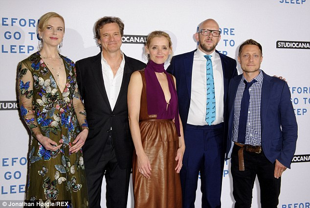 Photo op! (L to R) Nicole Kidman, Colin Firth, Anne-Marie Duff, S. J. Watson and Rowan Joffe pose for a photo