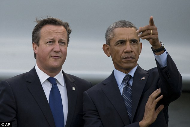 US President Barack Obama watched a military flypast with David Cameron at the NATO summit at the Celtic Manor Resort in Newport, Wales, this morning