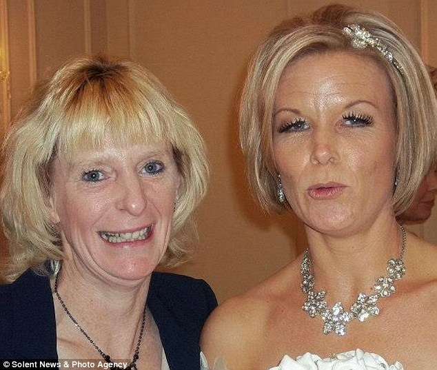 Nicola Crawford, right, said her best friend Pennie Davies, left had finally found happiness with husband Pete