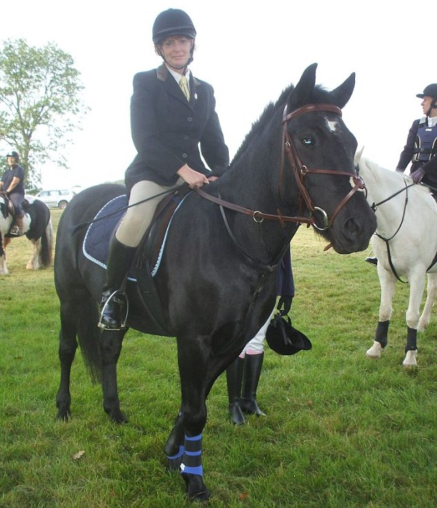 Friends said that Pennie Davis, pictured, was a keen horse woman who really enjoyed riding