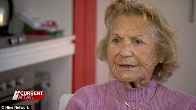 The 83-year-old woman told A Current Affair that the salesman claimed he was a cleaner from the government and asked if he could clean her carpet